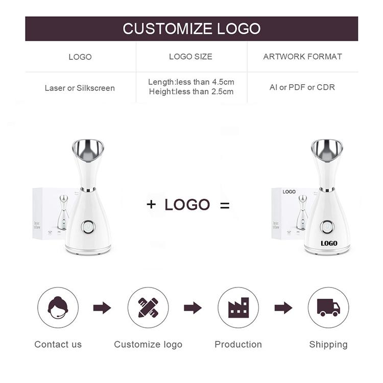 Нано-ионный отпариватель для лица, Электрический домашний недорогой увлажнитель для лица, паровой аппарат для лица