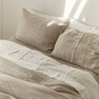 White 100% Flax Linen Single Double Queen King Super King Bedding Set