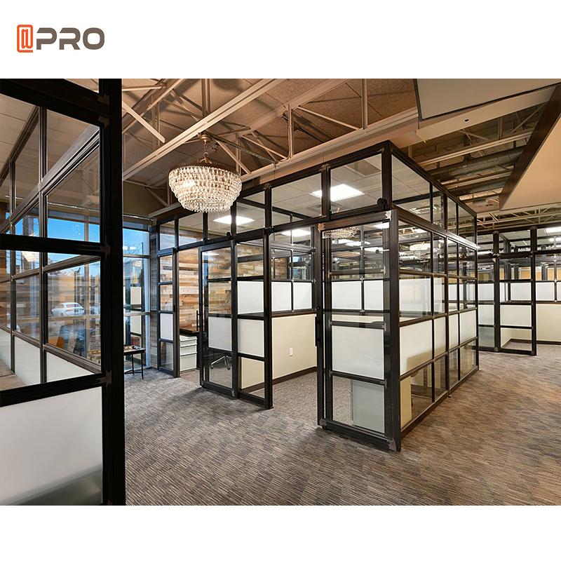 2021 glass office partition black aluminium glass office partion partition