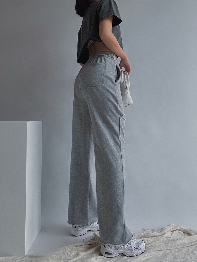 2020 high quality custom logo long length comfy cotton trousers women multicolor womens jogging pants