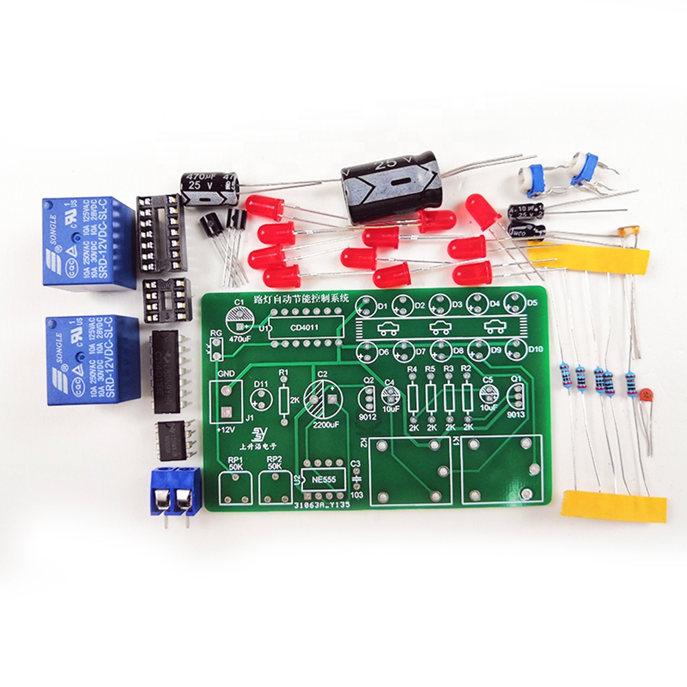 Taidacent Street Light Automatic Energy Saving Kit Electronic Training Kits Educational Electronic Circuit Kit for Students