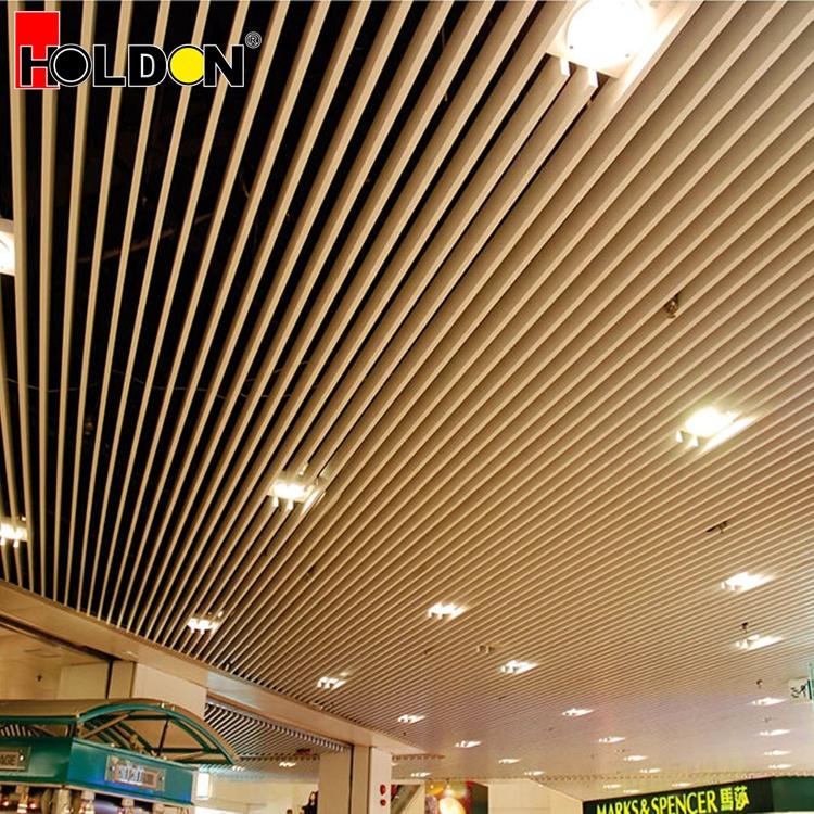 Wood Grain Powder Coated Veneer Aluminium Acoustical Ceiling Panel