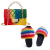 Colorful B Purse and Sandals Set