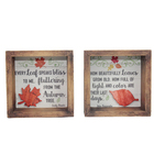Table Decor Table Decor Wooden Shadenbox Frame Layered Maple Leaf