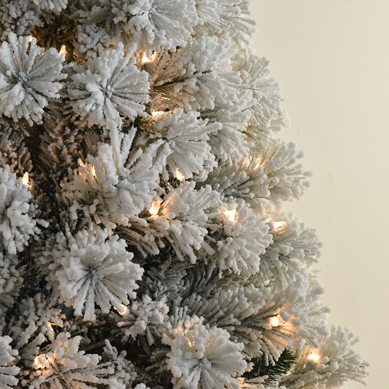 Outdoor decoration pine needle christmas tree with led lights included
