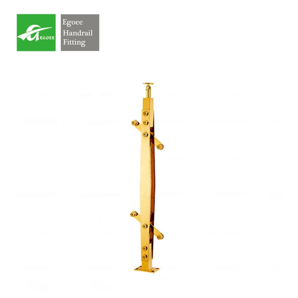 Формы для колонн из нержавеющей стали в виде римских колонн на продажу, поручни золотого цвета для лестницы, ограждения, лестничные перила для помещений