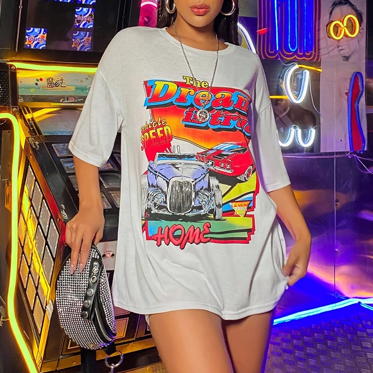 Custom Casual T Shirt Hot Selling Crew Neck Printing Graphic Womens Oversized Tee - Buy Oversized Tee,Womens Oversized Tee,Oversized Graphic Tee ...