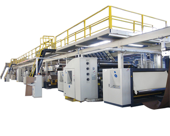3/5/7 layer corrugated cardboard production line a full set of equipment for carton box making , low price high quality