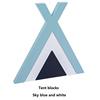 Tent blocks/Sky blue white