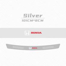 Защитная пластина для багажника автомобиля из углеродного волокна устойчивая к царапинам Защитная Наклейка для Honda Civic Accord CR-V XR-V автомобиль...(Китай)
