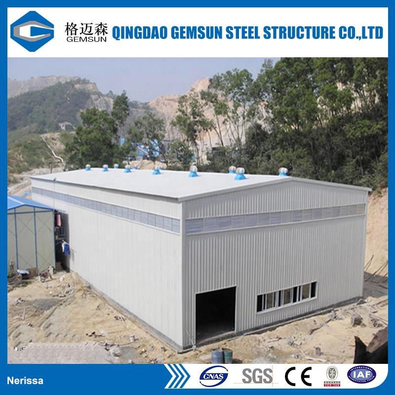 Hot dip galvanized Easy Assembled Steel Shed