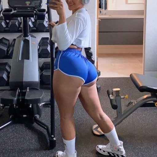 Женские спортивные шорты из 85% хлопка для спортзала, бодибилдинга, бега, повседневные велосипедные штаны для активного отдыха, большие размеры