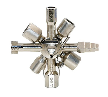 Multifunctional Triangle Key Wrench Electric Control Cabinet Elevator Water Meter Valve 10-in-1 Cross Key