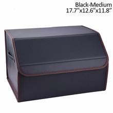 Сумка для хранения SPEEDWOW в автомобиле, органайзер для багажника из искусственной кожи, многоцелевой складной ящик для инструментов для бага...(Китай)