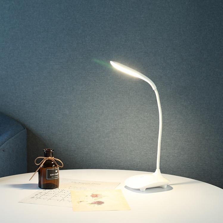Kanlong white plastic low price portable reading homework lamps wireless USB touch LED light table lamp for restaurant bedside