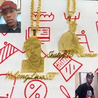 Necklace Gold Plated Cartoon Name Pendent For Kids Custom Personalized Photo Picture Portrait Nameplate Necklace