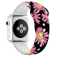Мягкий силиконовый ремешок для apple watch series 5, 4, 3, 2, 1, iWatch, браслет для apple watch 38 мм, 42 мм, 40 мм, 44 мм, спортивный ремешок(Китай)