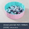19-Green Pink Ball Pool+100 Ball