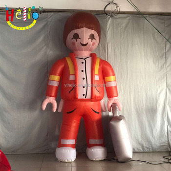 Advertising Inflatable Cartoon Character Display inflatable nurse Doctors gilr woman mascot model