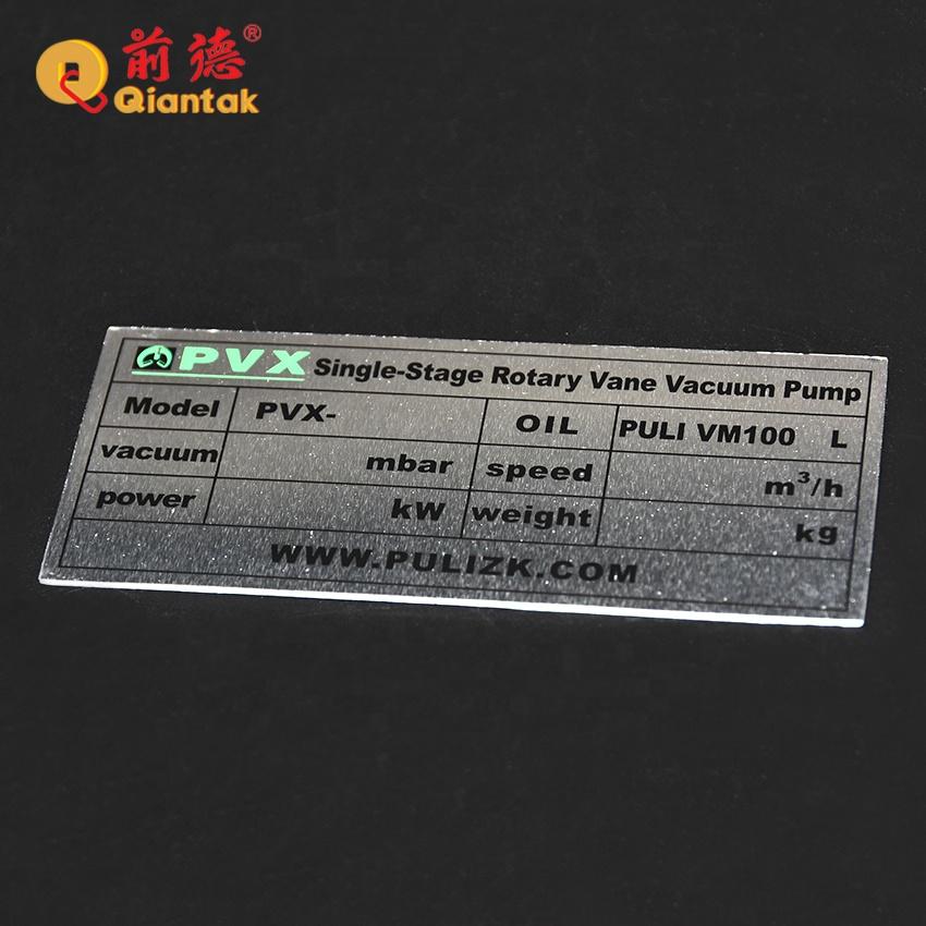 Индивидуальный размер и форма, клейкая алюминиевая этикетка, металлическая бирка с логотипом для машины