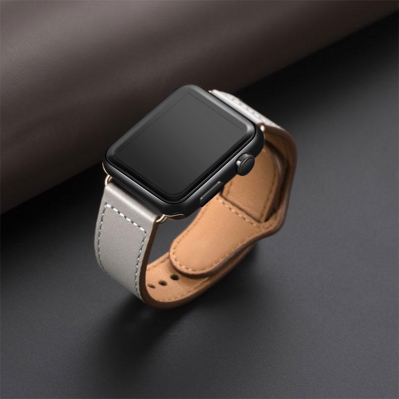 Smart watch strap For Apple watch genuine leather watch strap replacement leather bracelet