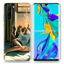Эстетический чехол для курящей девушки huawei P20 Lite P30 P Smart Z Plus 2019 P10 P9 P8 mate 10 20 30 Pro 5G силиконовый чехол для телефона Cas(Китай)