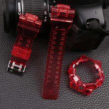 Аксессуары для часов 16 мм полимерный ремешок для камуфляжного Casio G-SHOCK GA-700 710 735 мужской и женский спортивный прозрачный силиконовый ремешок(Китай)