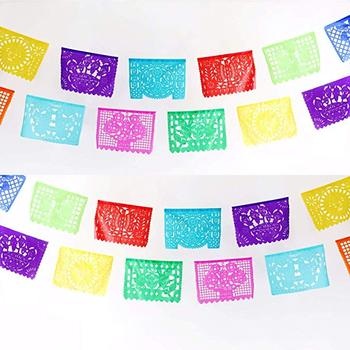 Mexican Paper Banner Day Of The Dead Halloween Papel Picado