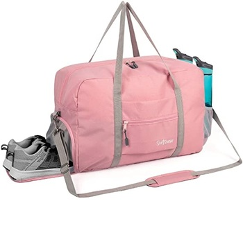 FREE SAMPLE Sports Duffle Bag Gym Bag Travel Duffel with Adjustable Strap in Pink