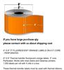 """4 """"X6"""" 1000 Étiquettes Fluorescent Orange"""