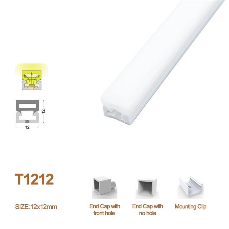 12x12mm LED Neon Light Housing Flexible Neon Channel kit for 8mm Wide LED Strip Lights