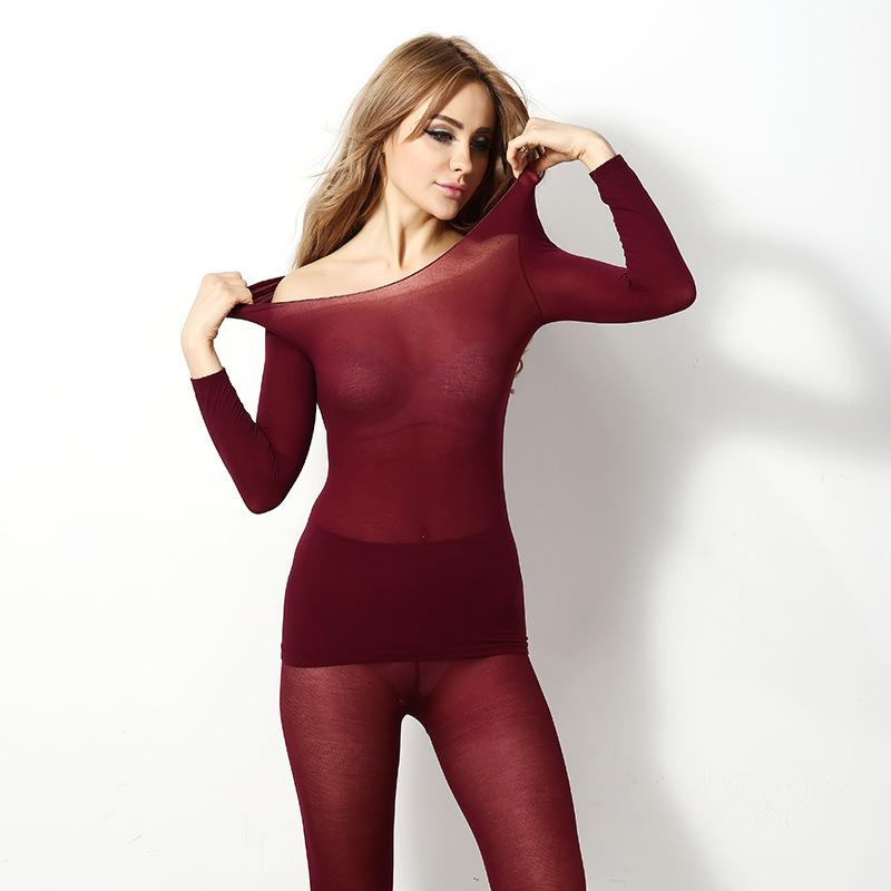 Autumn Winter 37 Degrees Constant Temperature Heating Thermal Underwear Women Thermal Underwear Set