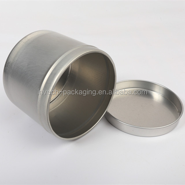 empty tin can for pomade packaging,deep aluminum jar for dried herbs