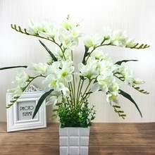 Искусственный цветок фрезии с 9 ветками для домашнего декора гостиной(Китай)