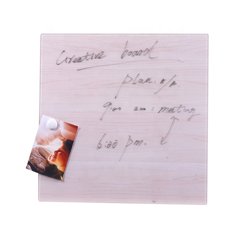 Magnetic Tempered Glass Memo Digital Bulletin Board For Living Room Decorations - Yola WhiteBoard   szyola.net