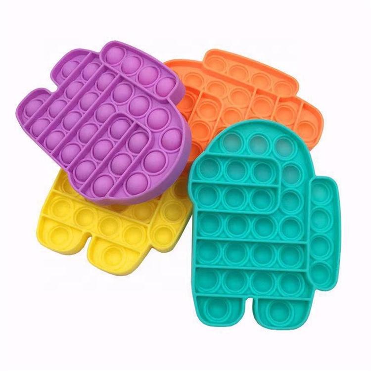 Fidget Toy Push Bubble Sensory Fidge Toys Camouflage 2021 Amazon Hot Sale Child Camo Baby Soft Silicone Fidge Anti-Stress Pop It