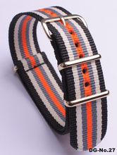 Mne и женский нейлоновый ремешок, спортивный дышащий ремешок для 18 мм 20 мм 22 мм 24 мм Золотой ремень с пряжкой(Китай)