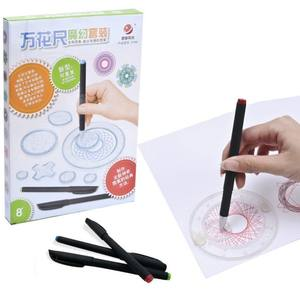 In Stock 22pcs Rules Painting Multi-function Puzzle Spirograph Geometric Ruler Drafting Tools
