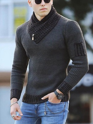 2021 New Style Wholesale  Fashion Men's Knitted Pullover Sweater Coat Cheap Plus Size Slim Fit Thick Sweater Clothing For Man