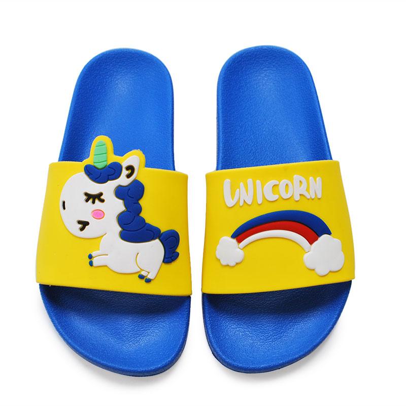 Cheap Price Kids Sandals Slipper Custom logo unicorn cute indoor unisex Slides Slipper