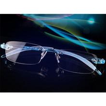 Гибкие TR90 очки без оправы ультралегкие оптические оправы для очков эластичные прозрачные линзы(China)