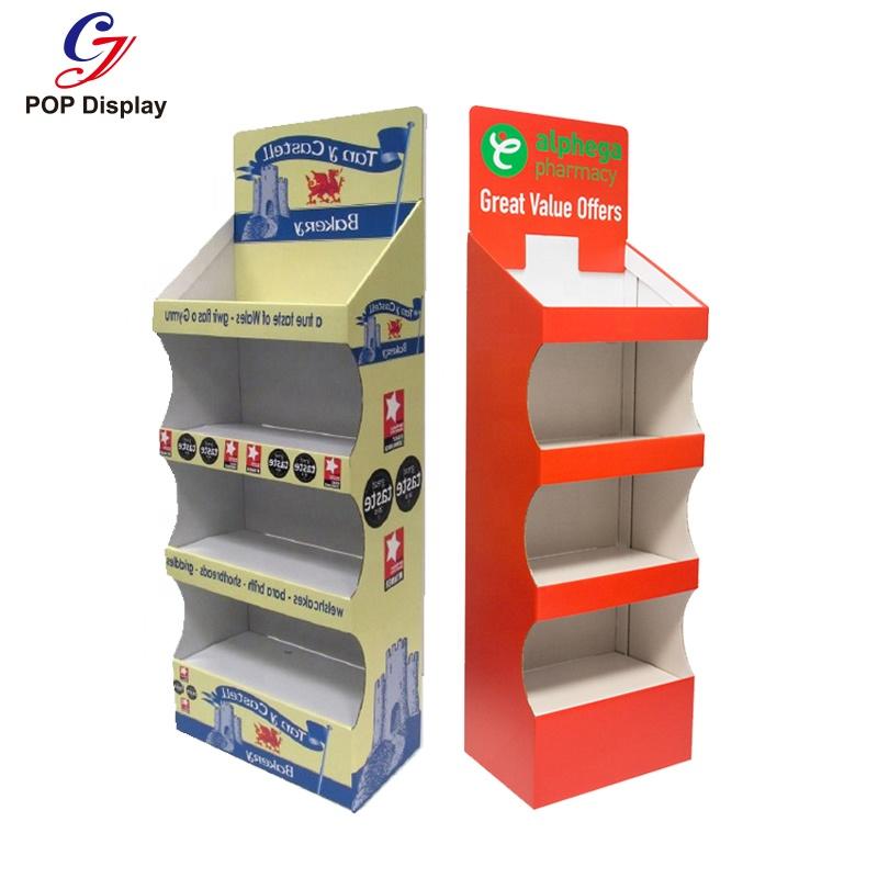 Перерабатываемые картонные выставочные тумбы; Глянцевая бумажная картонная выставочная стойка для поздравительных открыток, выставочный картон