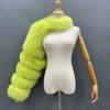 light green fur sleeve