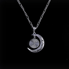 Silver Chains E-bay Best Selling Evil Eyes Moon Pendant For Women Jewelry Silver Alloy Chains Necklace