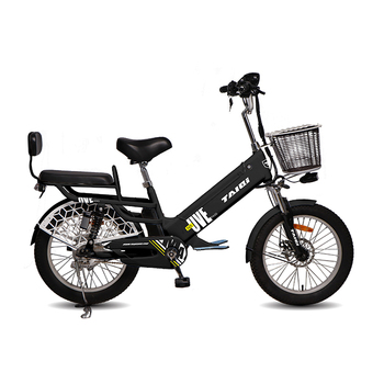 TAIQI N5 48V 350W brushless motor ebike electric bicycle with LCD display/Front Disc&Rear Expanding Brake/48V10AH Big Battery