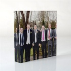 Perfect for family photo's or for corporate branding acrylic glass table standing block