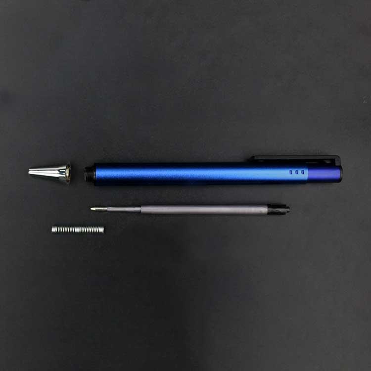 Хорошо продаваемая металлическая шариковая ручка нового типа с матовым черным логотипом на заказ