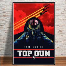 Топ пистолет фильм 2020 том круиз фильм комические плакаты и принты картины для гостиной стены украшения дома Модный Принт плакат(Китай)