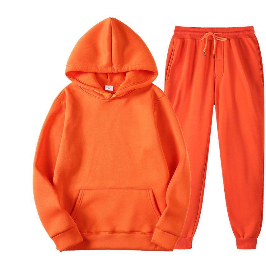 Custom Printing 100% Cotton Fleece Plain Sweaters Long Sleeve Women Set Crop Hoodies