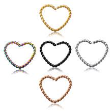 4 шт., кольцо для носа, перегородка, клипса для пирсинга, серьги-кольца для женщин, нержавеющая сталь, спираль, кликер, серьги, украшения для те...(China)